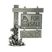 Vintage Pewter House For Sale Sign Pin By JJ