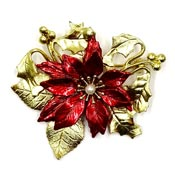 Red And Gold Poinsettia Pin By Kenneth Cole