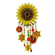 Lunch At The Ritz Sunny Sunflower Pin Or Pendant