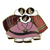 Vintage Barbara Lavallee Three Inuit Women Pin