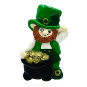 Vintage Leprechaun With A Pot Of Gold Pin