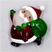 Light Up Santa Claus Pin