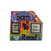 Lucinda Born To Read Rainbow Book Pin