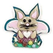 Lucinda Girl Easter Bunny Fairy Pin Rare