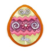 Lucinda Easter Egg With Rabbit And Flower Pin