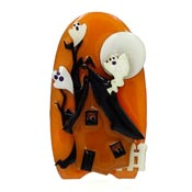 Lucinda Halloween Haunted House Pin