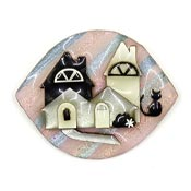 Lucinda House Pin With Black Cat