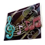 Lucinda Music Pin Teal And Purple Notes