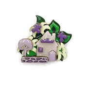 Lucinda Easter House Pin With Lilies Tree Butterflies And Stone Wall