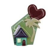 Lucinda Tropical Love House Pin