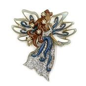 Lucinda Winter Snow Fairy Pin