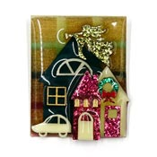 Lucinda Christmas Angel House Pin