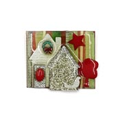 Lucinda Christmas House Pin With Sled And Wreath