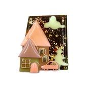 Lucinda Pretty Pastels House With Car Pin