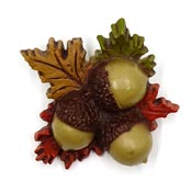 Acorn And Leaves Pin By Hallmark 1976