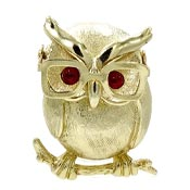 Vintage Professor Owl Pin Sarah Coventry