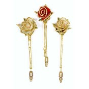 Real Rose Stickpins Red Or Pink