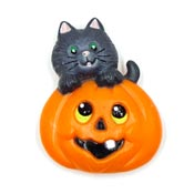 Vintage Cat And Jack O Lantern Pin By Russ