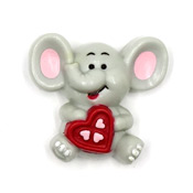 Vintage Elephant With A Heart Pin By Russ