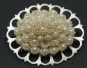 Antique Georgian Or Early Victorian Seed Pearl Pin