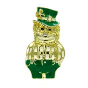 Vintage Enameled Leprechaun Pin By SFJ