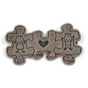 Vintage Sterling Silver Puzzle Piece Children Pin
