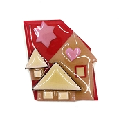 Lucinda Pink Red Love House Pin
