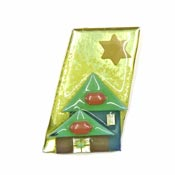 Lucinda Teal Brown And Gold House Pin
