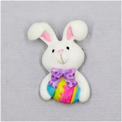 Vintage Resin Easter Bunny With Easter Egg Pin