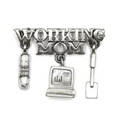 Vintage Working Mom Brooch By Spoontiques New On Card
