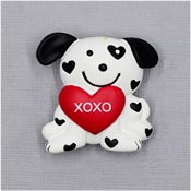 Valentines Day XOXO Heart Puppy Pin