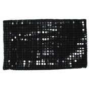 Vintage Black Plastic Mesh Clutch By Lumured