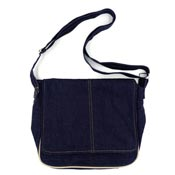 Denim Crossbody Messenger Bag NWOT