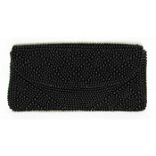 Vintage Black Beaded Clutch From Japan