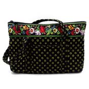 Vera Bradley Vibrant Black Little Betsy Tote And Coin Purse