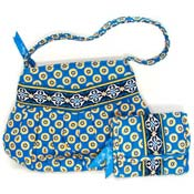 Vera Bradley Riviera Blue Hannah Bag And Wallet