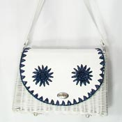 Vintage White Wicker Purse