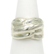 Wide Sterling Silver Ring Made In Mexico
