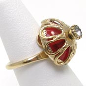 Vintage Sarah Coventry Royal Charm Ring