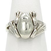 Sterling Silver Frog With Moveable Legs Ring