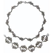 Danecraft Sterling Silver Acorn Necklace And Bracelet