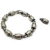 Mignon Faget Sterling Silver Tulips Bracelet And Pendant