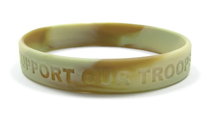 Desert Camo Support Our Troops Wristband