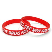 Live Drug Free Wristband-Adult