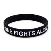 No One Fights Alone Wristband-Adult