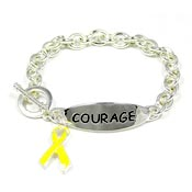 Yellow Ribbon Courage Bracelet