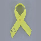 Yellow Survivors Of Suicide Awareness Ribbon Pin