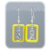 Yellow Ribbon Window Earrings