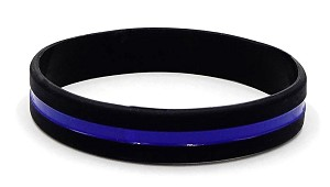 Thin Blue Line Wristband-Small