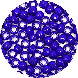 Bright Blue 9x6 mm Pony Beads 50 Pieces